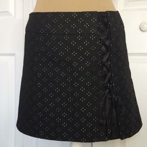 Nanette Lepore woven lace up detail mini skirt 4